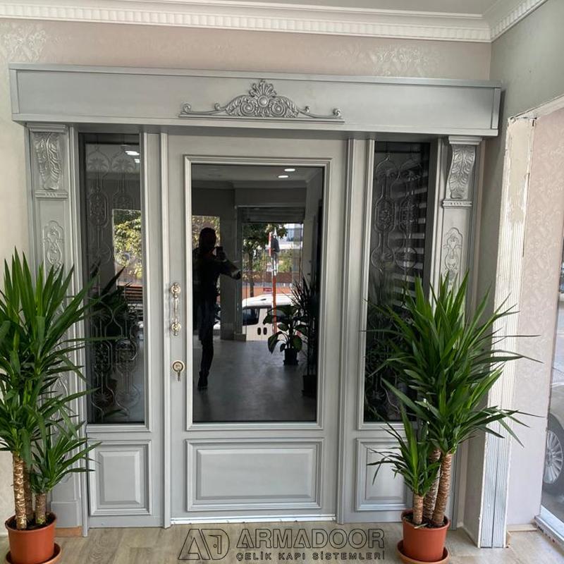 Beyaz Villa Kapısı Resimleri Modelleri| Villa KapısıVilla Kapısı ModelleriPivot Kapı Sistemleri