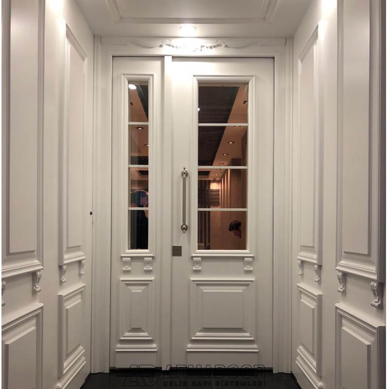 Beyaz Villa Kapısı| Villa KapısıVilla Kapısı ModelleriPivot Kapı Sistemleri