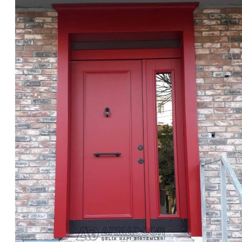 Kırmızı Villa Kapısı| Villa KapısıVilla Kapısı ModelleriPivot Kapı Sistemleri